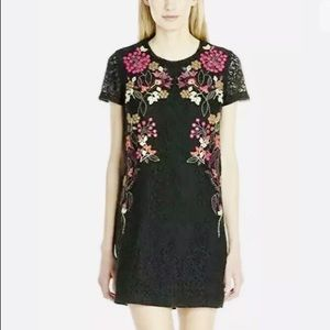French Connection Legere Lace Floral Mini Dress